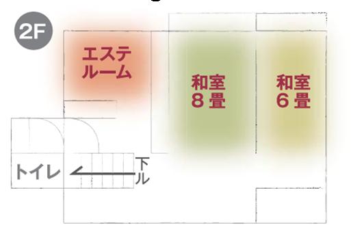 飯田市レンタルスペース「キラジョハウス」2F間取り